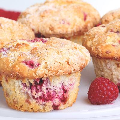 Muffin cuit yogourt-framboise