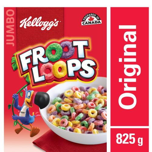 Cereales froot loops jumbo 825gr