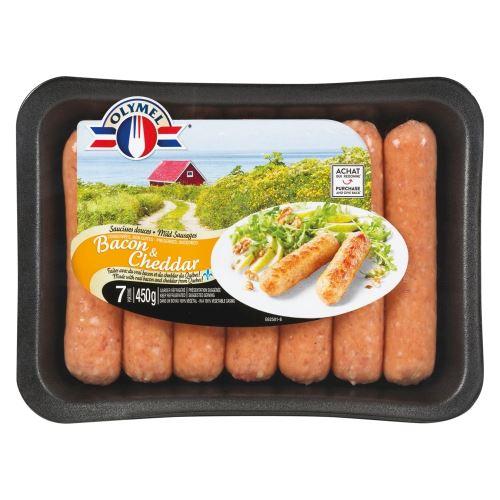 Saucisse Bacon Cheddar Olymel 450g