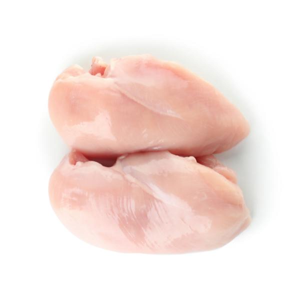 Poitrine de poulet désossée et congelée