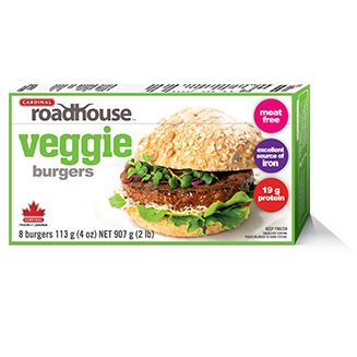Roadhouse veggie burger 8 x 4oz