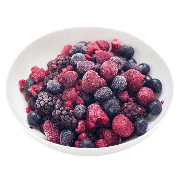 Mélange de fruits surgelés
