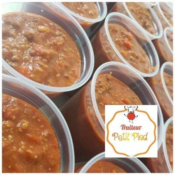 Sauce Spaghetti Maison Traiteur Petit Pied